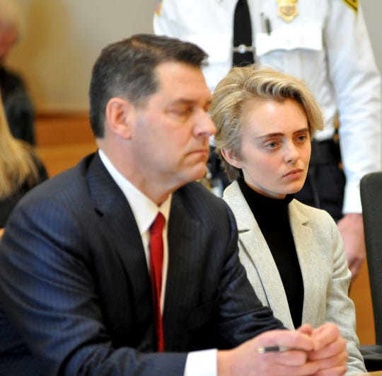 Michelle Carter, 22, appears in Taunton District Court in Taunton, Mass. Feb. 11 for a hearing on her prison sentence.