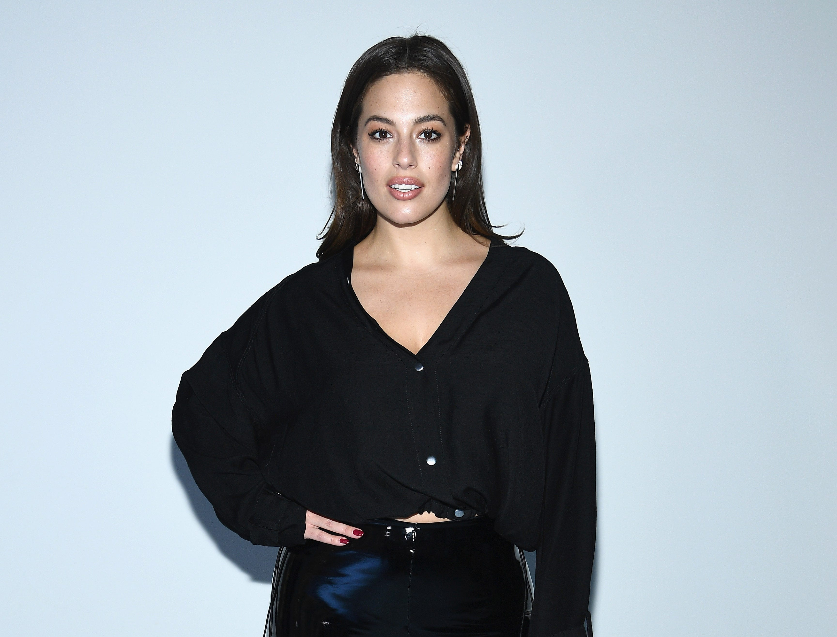 NEW YORK, NY - FEBRUARY 11:  Model Ashley Graham attends the 3.1 Phillip Lim Fashion Show during New York Fashion Week at Center 415 on February 11, 2019 in New York City.  (Photo by Dimitrios Kambouris/Getty Images) ORG XMIT: 775290923 ORIG FILE ID: 1097943634