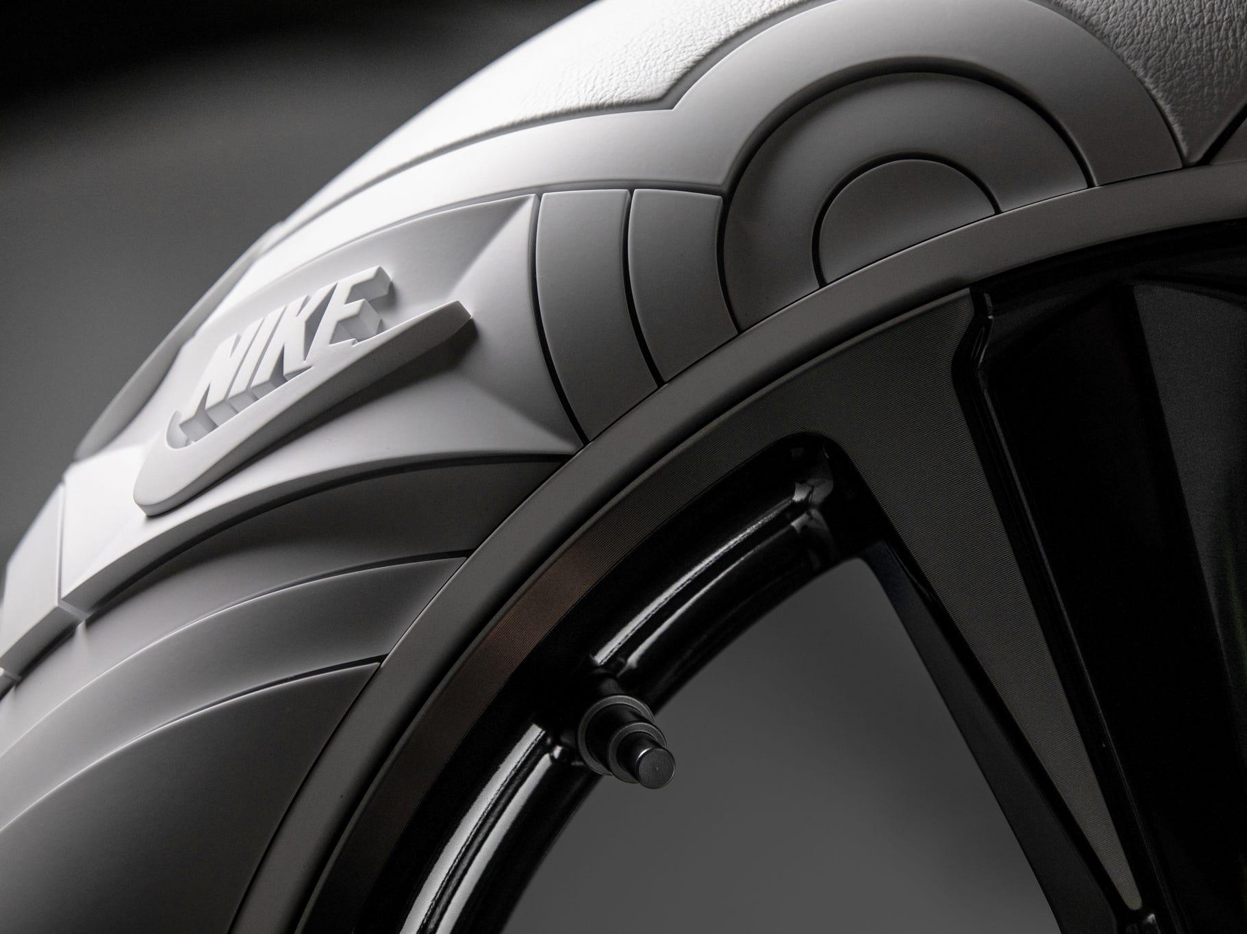 Nike Logo on Lexus UX tires