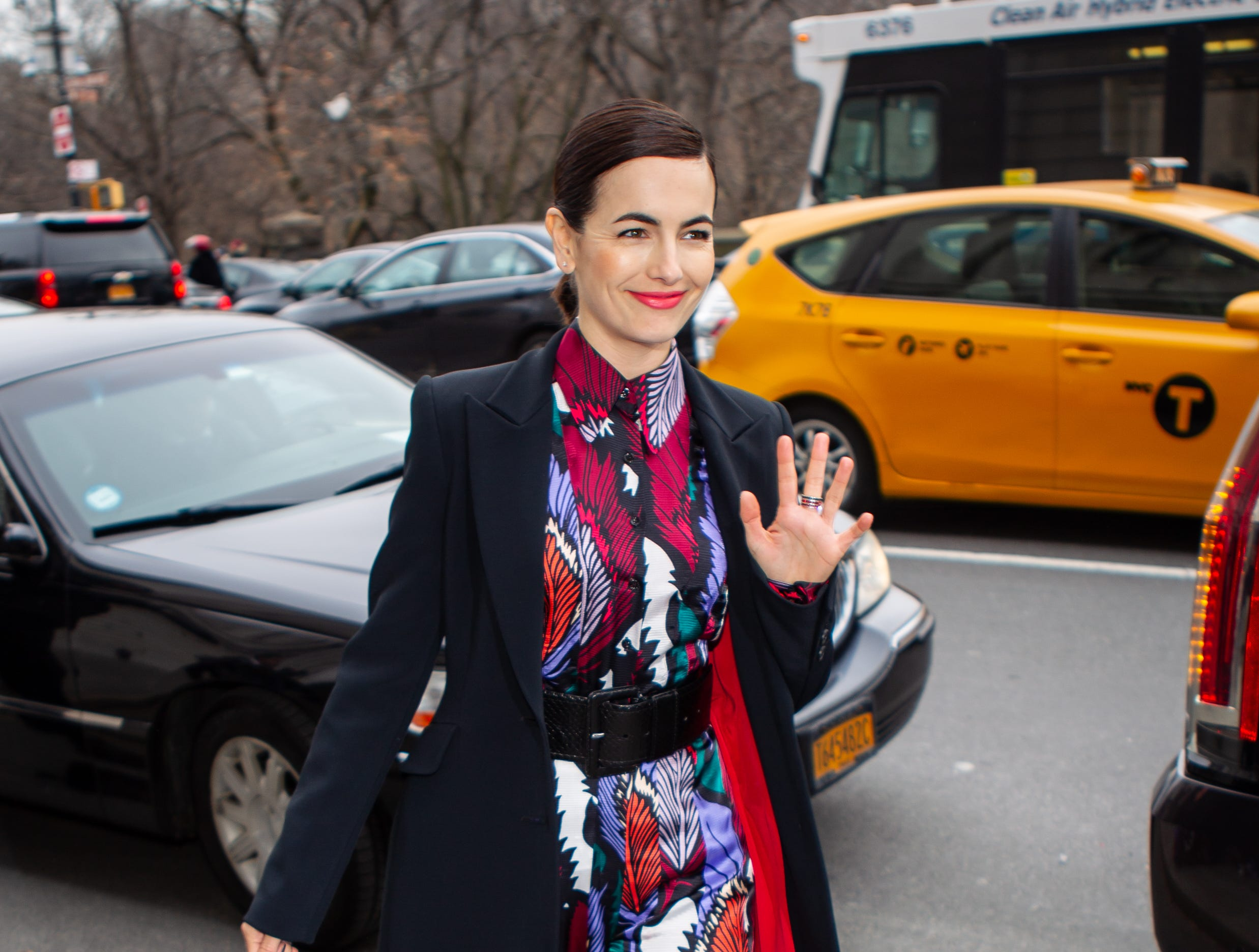 NEW YORK, NEW YORK - FEBRUARY 11: Actress Camilla Belle attends Carolina Herrera fall 2019 runway show during (NYFW) New York Fashion Week held at New York Historical Society 170 Central Park West on February 11, 2019 in New York City. (Photo by Anthony DelMundo/Getty Images) ORG XMIT: 775280126 ORIG FILE ID: 1129012393