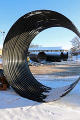 An underground pipe at the former Pizza Hut on West College Avenue in Grand Chute failed and will be replaced with new steel pipe that is coated to resist corrosion. The pipe conveys a navigable stream.