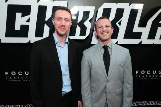 """East Brunswick native writers and co-producers David Rabinowitz, left, and Charlie Wachtel at the Los Angeles premiere of """"BlacKkKlansman"""" on Aug. 8, 2018."""