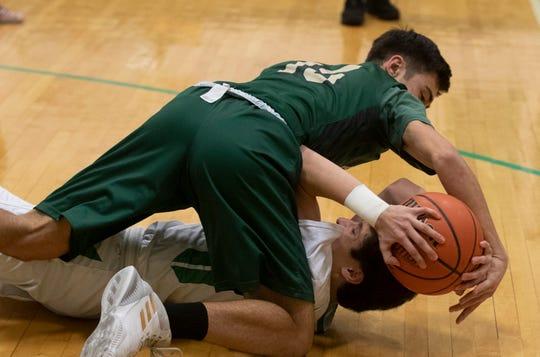 Brick Memorial Boys Basketball vs Brick High School in Brick NJ on February 13, 2019.