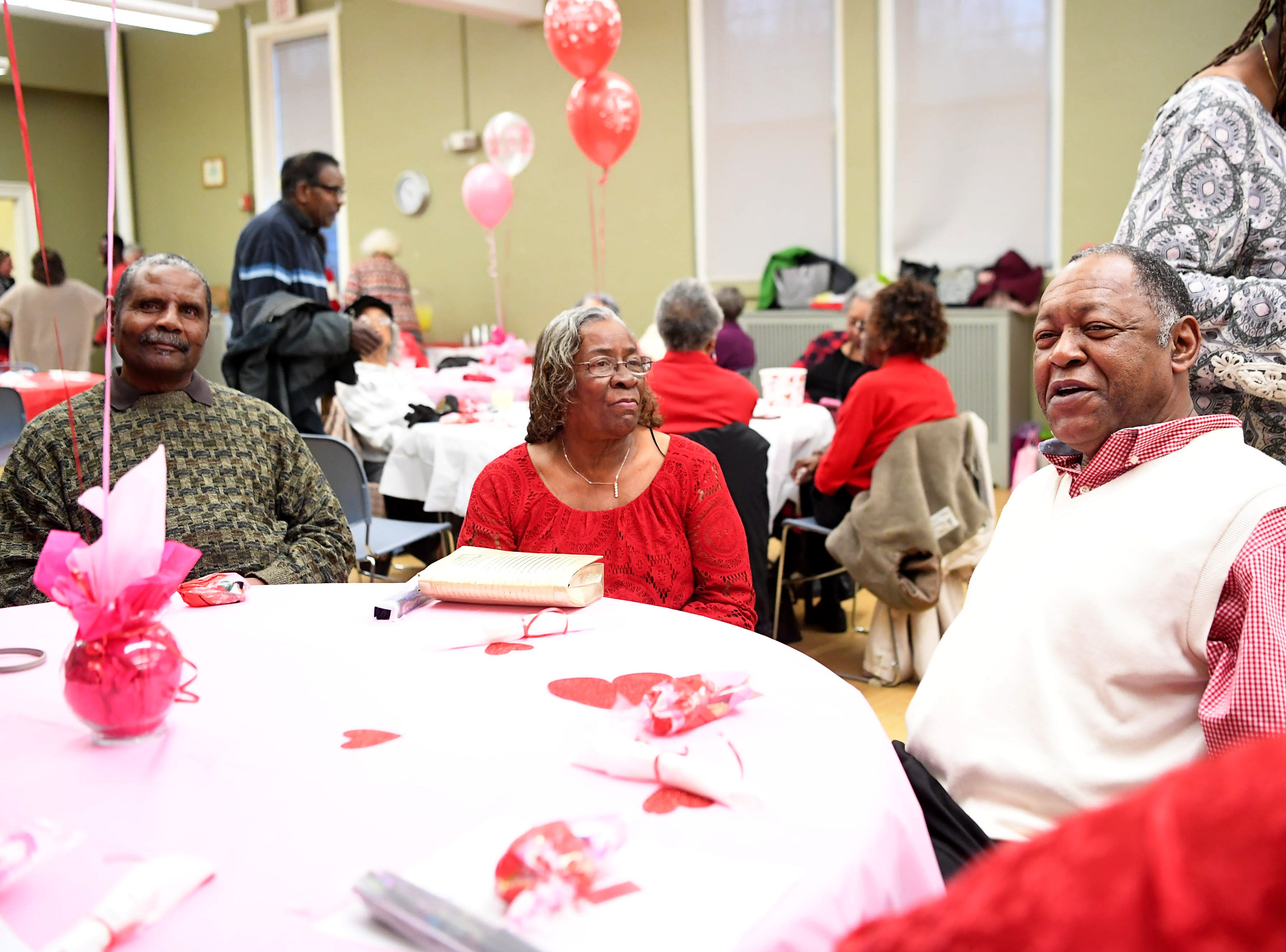 The District 9 senior club hosted a Valentine social with door prizes, dancing and food at the Stephens-Lee Recreation Center in Asheville Feb. 12, 2019.
