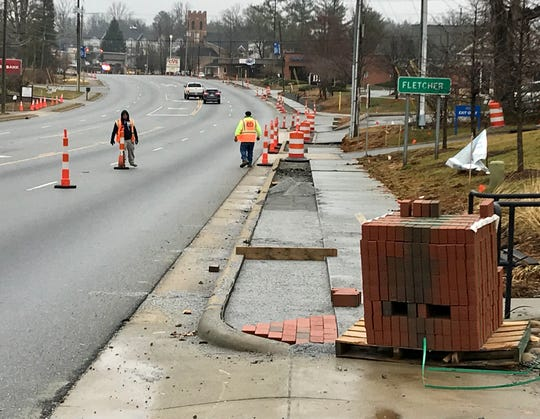 Fletcher has embarked on a $2.1 million upgrade of its main corridor, Hendersonville Road, which will include new sidewalks, improved lighting and a clock tower.
