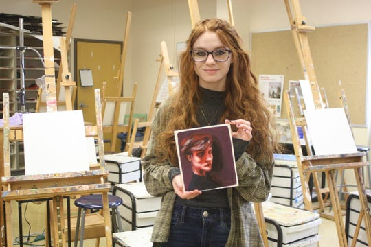 Maine-Endwell High School senior Audrey Higgins received eight awards at the 2019 Scholastic art Awards for the New York/Pennsylvania region.
