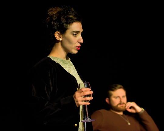 Lianne Aharony (Bea) rehearses Tri-Cities Opera's 'Three Decembers.'