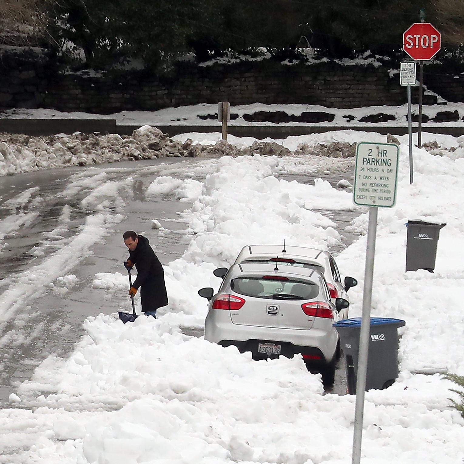 As plows clear public roads, those on private roads may feel trapped