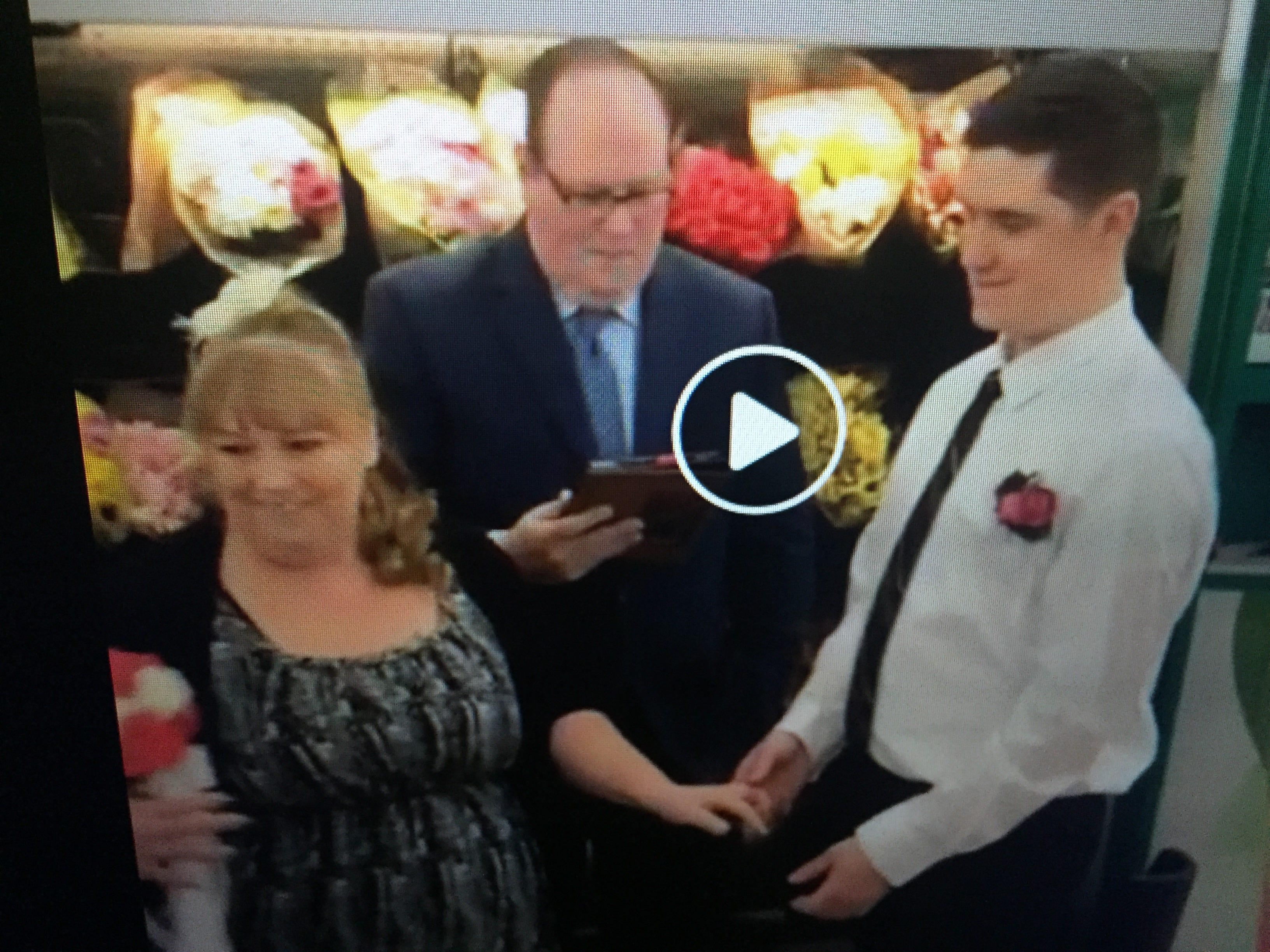 Wedding at Walmart: Employees get married in store just before groom  enlists in U S  Army