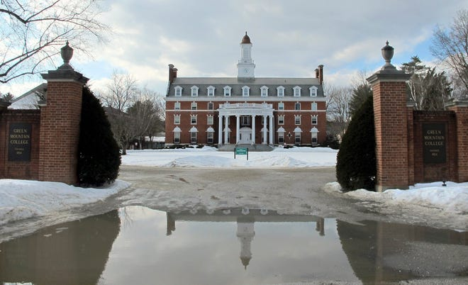 This Tuesday, Feb. 5, 2019, photo shows the campus of Green Mountain College in Poultney, Vt. The liberal arts college, which saw enrollment drop 43 percent over the last decade, announced it will close in May, going the way of some other small schools that have struggled to stay afloat.