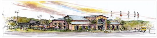A rendering of the proposed multi-sports complex that would be built in Corpus Christi by SQH Sports & Entertainment Inc.
