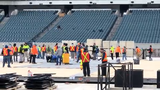 The NHL and its crew of roughly 50 people in addition to 70 local laborers are in the process of transforming Lincoln Financial Field to a rink.