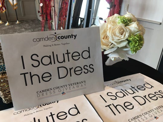 In the style of 'Say Yes to the Dress,' brides had the chance to salute the dress at the Camden County Veterans Dress Giveaway.