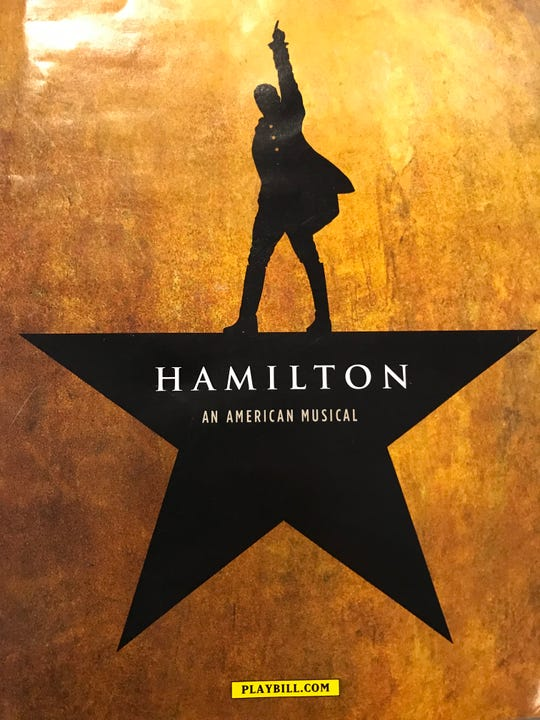 "An image of the logo on the playbill of ""Hamilton: An American Musical."""