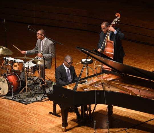 The Marcus Roberts trio. Pianist Roberts will perform Gershwin's Rhapsody in Blue during the Cincinnati Pops' 2019-20 season.