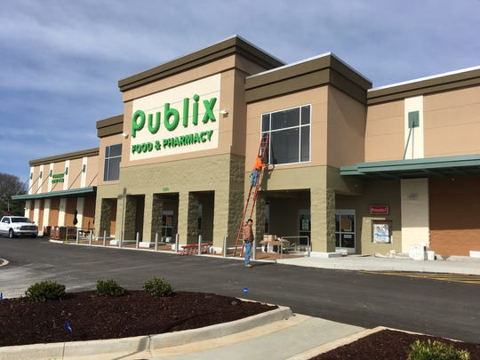 The Publix grocery under construction on Martin Luther King Parkway in Clarksville on Wednesday, Feb. 13, 2019.