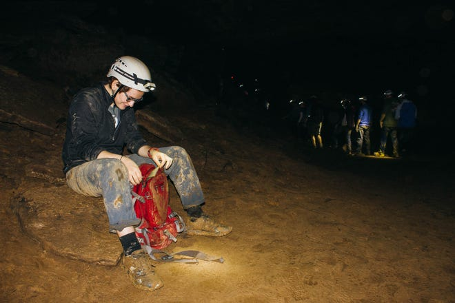 Olivia Salamy, Govs Outdoors trip leader, led a trip in December to Indian Grave Point Caves near Lebanon, Tennessee.