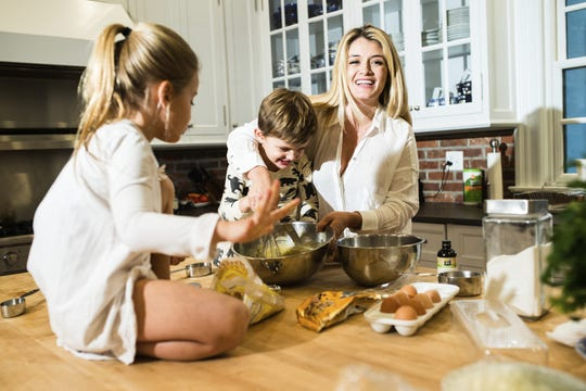 "Best-selling cookbook author, chef and Emmy Award-winning TV host, Daphne Oz, eher with two of her three children, will headline Robert Wood Johnson University Hospital Somerset's Heart Month event ""Happy Cooking for Cardiovascular Health"" Feb. 27 at Bridgewater Manor. During her keynote presentation, Oz plans on sharing tips for healthy, delicious and time-saving meals that are easy to create and maximize your health and happiness. That is key for Oz."