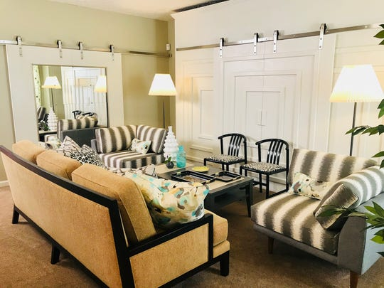 """Trading Spaces"" designer Laurie Smith is bringing her expertise and inspiration to the 30th New Jersey Home Show at the New Jersey Convention Center, slated for Feb. 22 to 24. This is an after shot of the living room space - see the inspiration pieces - at  a ""Trading Spaces"" home."