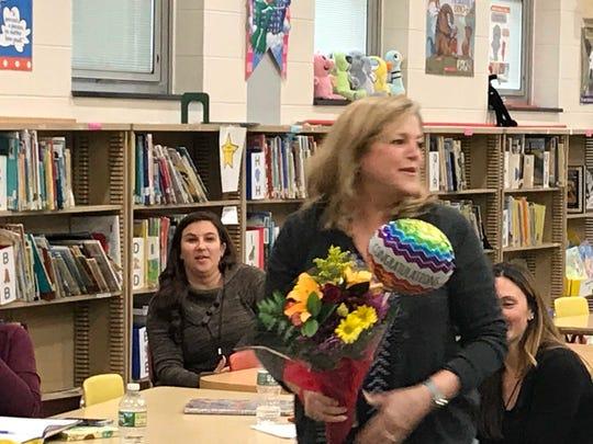 First grade teacher, Nancy Cortese was named teacher of the year