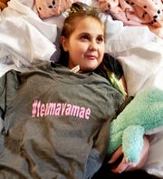 Grey or teal Team Ava Mae shirts are being sold to help raise funds for the Winner family. Ava has not been home since Jan. 9 after she was admitted to Akron Children's Hospital.