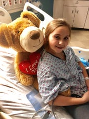 Ava Mae Winner of Warsaw was diagnosed with a brain tumor on Jan. 9 and has had three surgeries since then. She is currently undergoing proton radiation and chemotherapy to combat medulloblastoma.