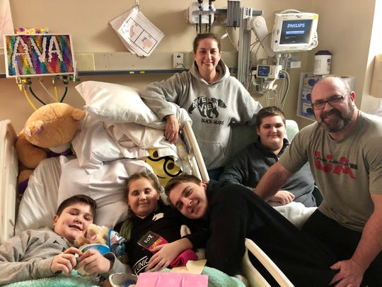 The Winner family, like Ava herself, smile and try to keep their spirits up in the hospital. Her family, brothers, Ashton, Brendan and Brady, and parents, Dan and Melissa, have been with her as she undergoes treatment for a brain tumor.