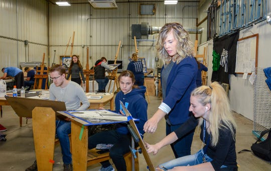 The fine arts department designed an open concept that inspires creativity.