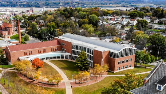 Loras College on Wednesday announced receipt of a $5 million cash gift from alumnus Bill Miller. The academic resource center, pictured, will be renamed to honor Miller and his late wife, Joanne.