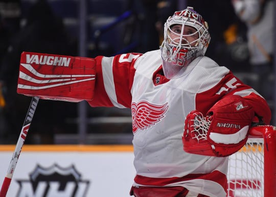 Keep looking up: Jimmy Howard eyeing his 500th career game, all with the Detroit Red Wings.