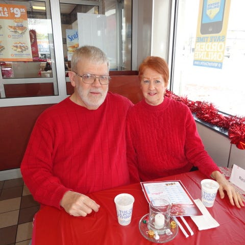 Taylor couple has a date with White Castle every Valentine's Day