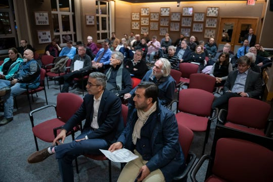 Members of the public attend a Planning Commission meeting in Royal Oak on Tuesday, Feb. 12, 2019.