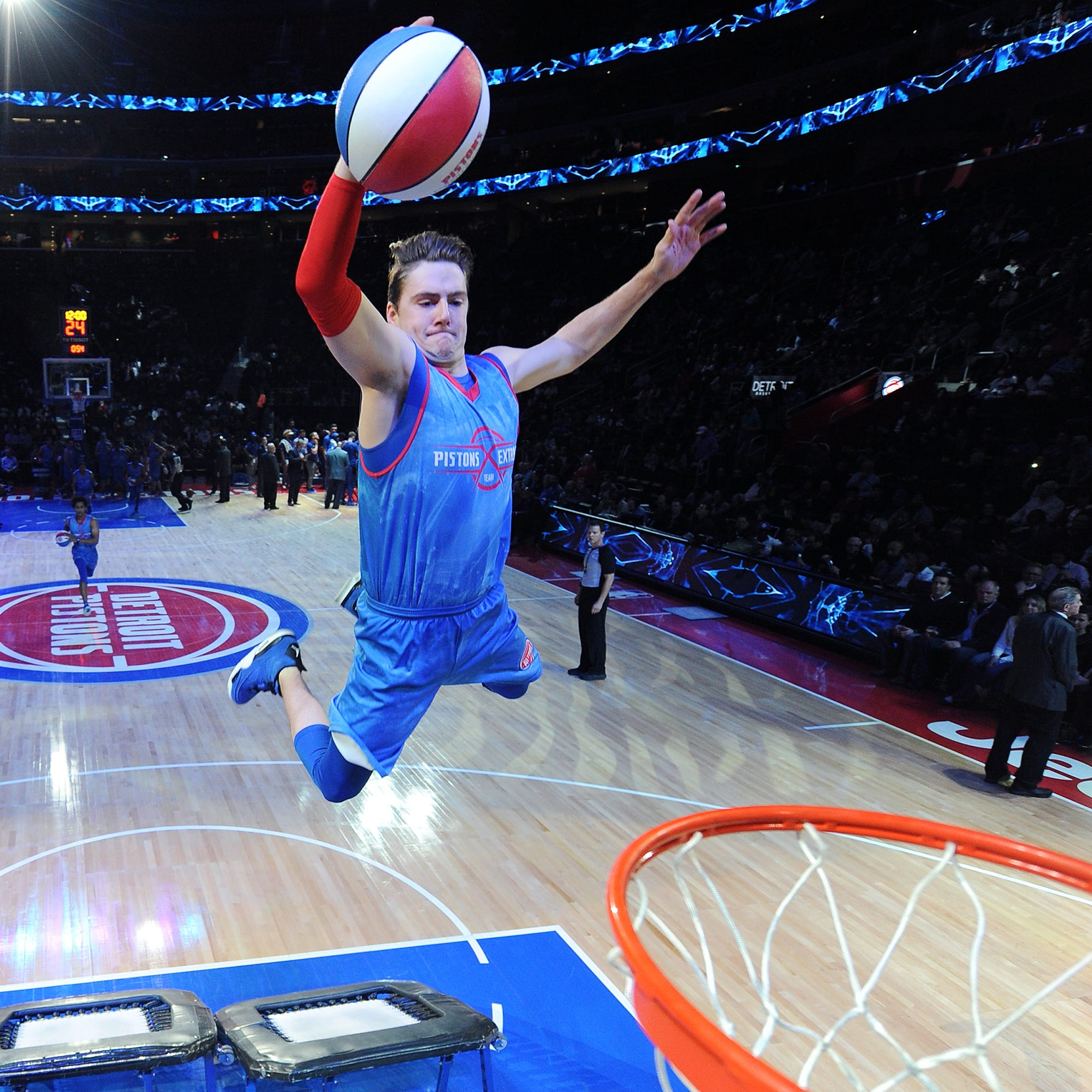 Showtime: On-court action only part of Pistons game nights