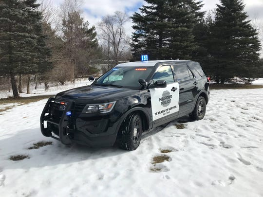 Milford Police vehicle