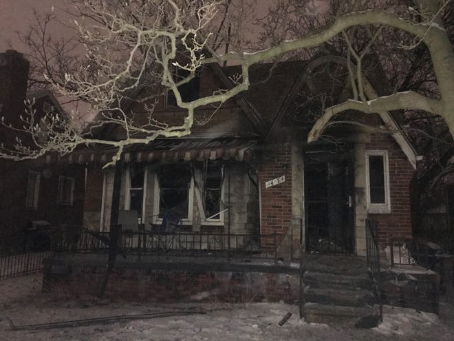 A woman and two boys were injured in a fire on Detroit's west side early Wednesday morning.