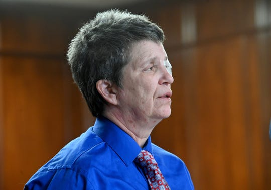 Nikki Joly, transgender activist, appears in Circuit Court in Jackson, Michigan, in front of Judge John McBain on Friday, Feb 1, 2019, and is granted a continuance.  Joly is charged with arson in connection with a fire in his home that killed five pets.