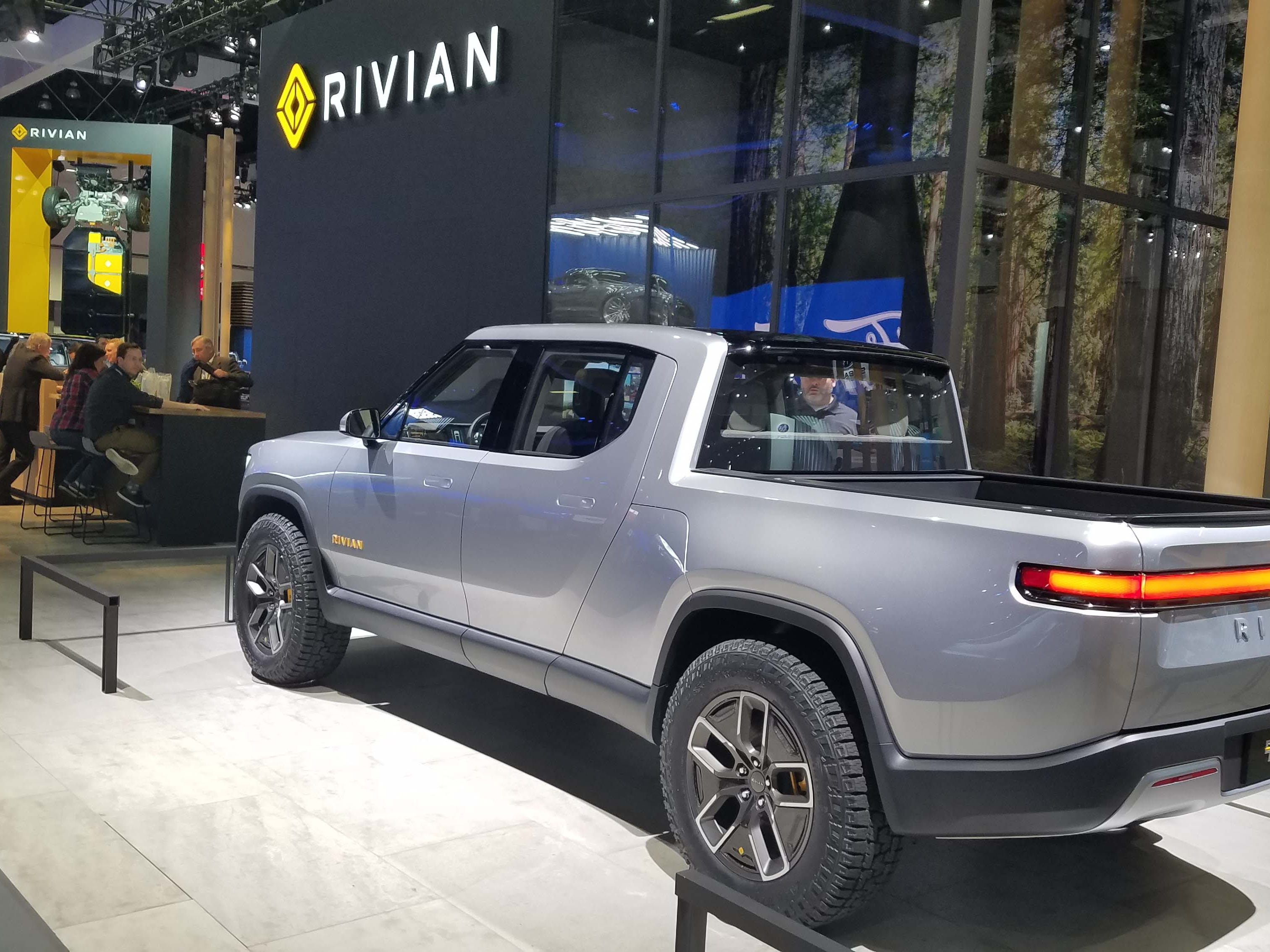 The Rivian R1T pickup and sister R1S SUV wowed the LA auto show last fall. The company is based in Plymouth, Mich. with a manufacturing plant in Normal, Ill.