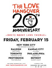 The Love Hangover, intimate concerts that take place Feb. 15, was launched 20 years ago in Raleigh, N.C.