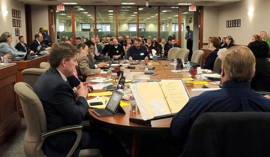 The Michigan State Board of Education meets in Lansing in  May of 2016.