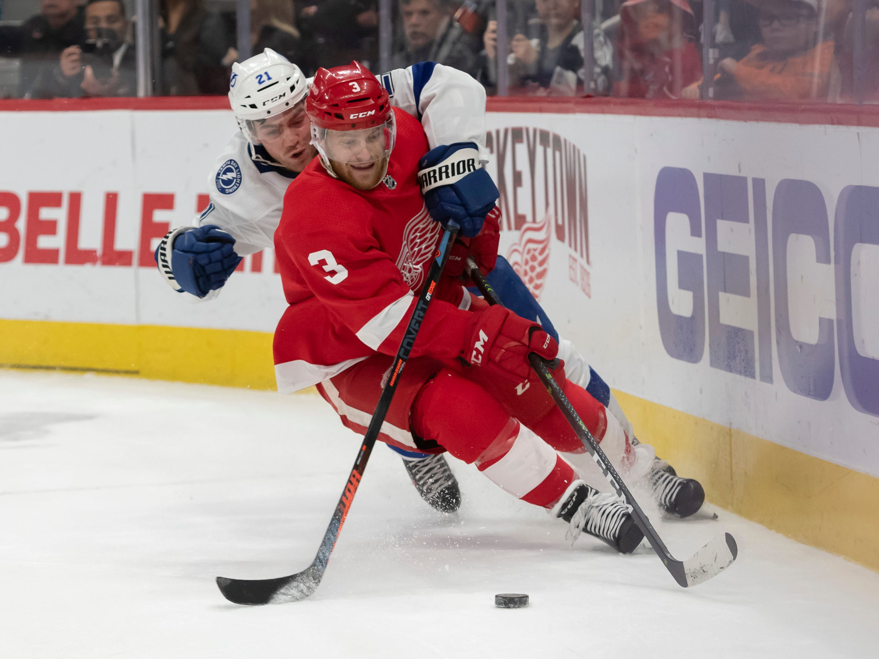 18. Nick Jensen, D, Detroit: Teams will be interested in this low-cost, quality depth defenseman, but the Wings, too, are very interested in re-signing Jensen for the near future.