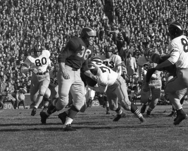 Dick Kempthorn played at Michigan from 1947-49.