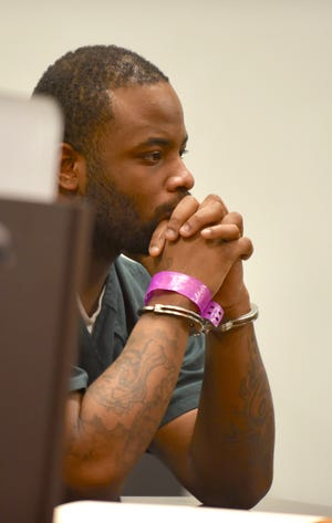 Derrick Devon Durham appears in court for his preliminary hearing Wednesday  in 36th District Court in Detroit. He is a suspect in the shooting death of a 3-year-old on the Southfield freeway.