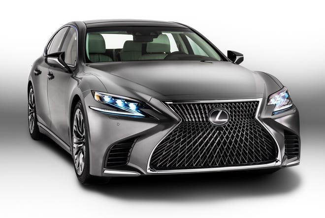J.D. Power's annual survey found that Lexus was the most dependable brand for the eighth-straight year.  The 2018 Lexus LS 500 is shown.