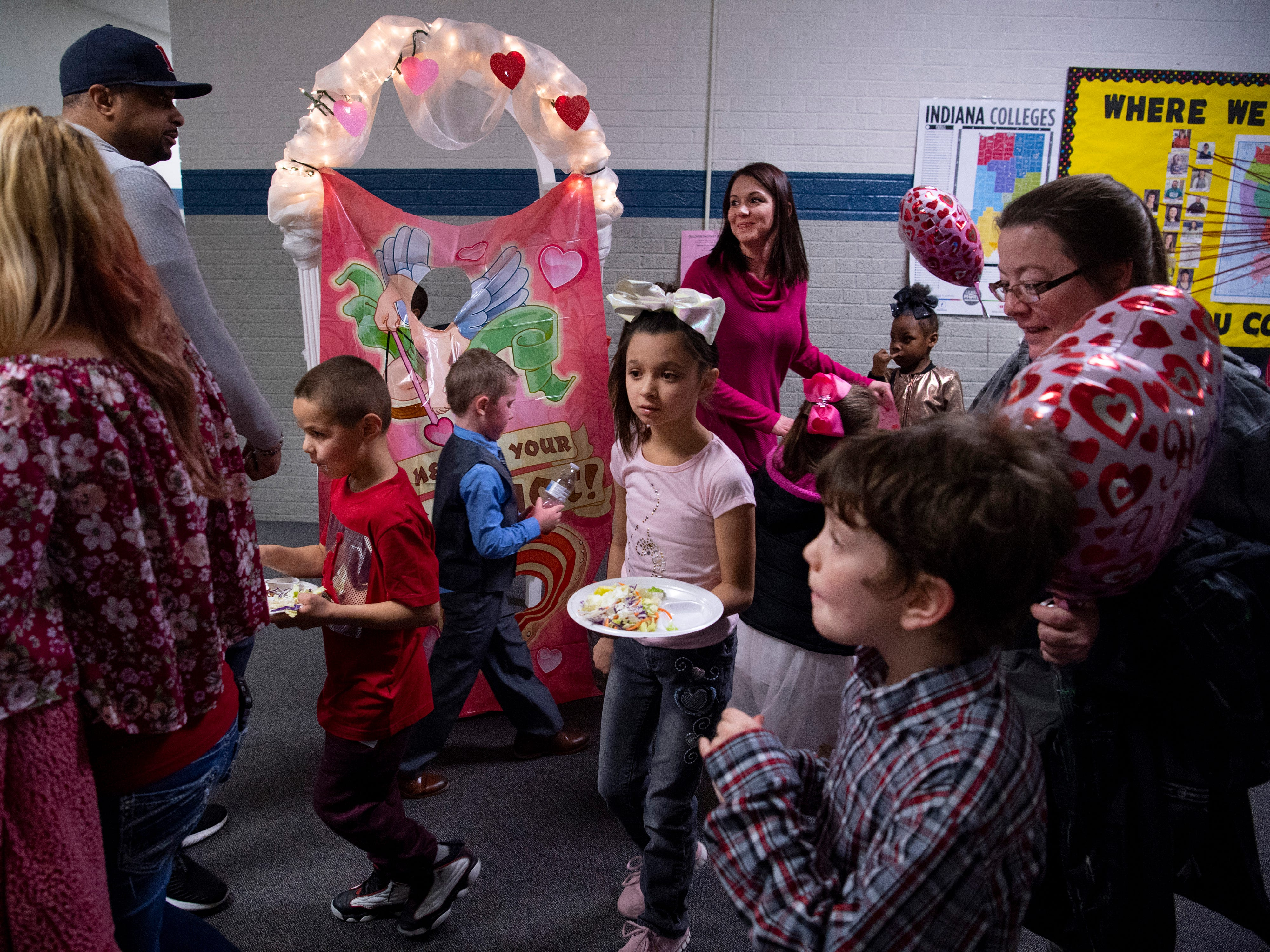 The Sweetheart Dance winds down at Caze Elementary School Tuesday night.