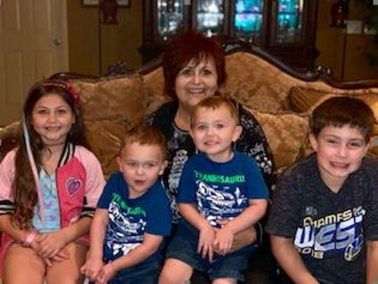 Marianne McGiffin, of Lehigh Acres, is anticipating a kidney transplant on Feb. 27. She is looking foward to having more energy to keep up with her grandchildren, Claire, Maddox, Jackson and Lincoln.