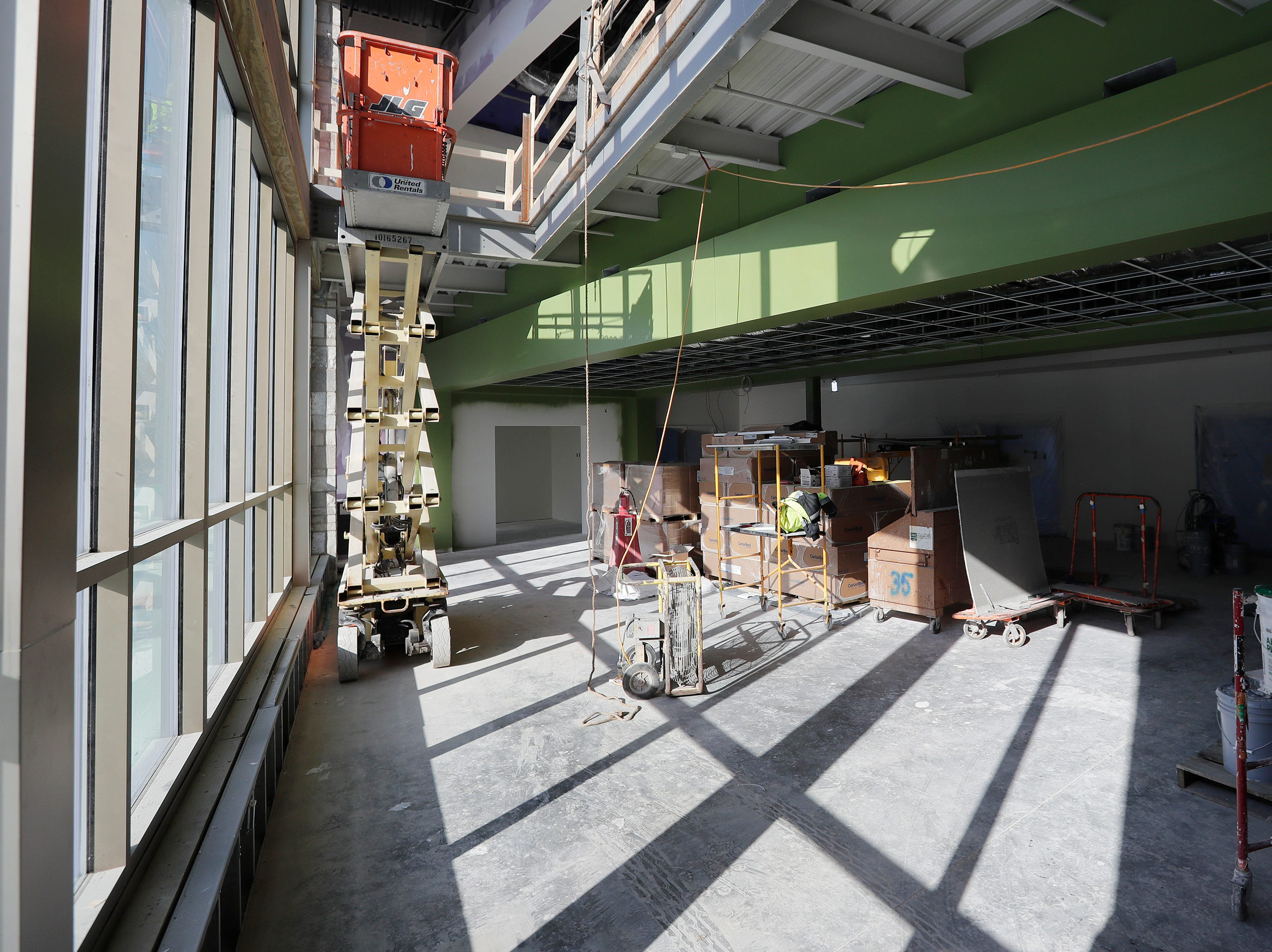 A classroom pod at the under-construction Baird Elementary School is shown on Wednesday, February 13, 2019 in Green Bay, Wis.