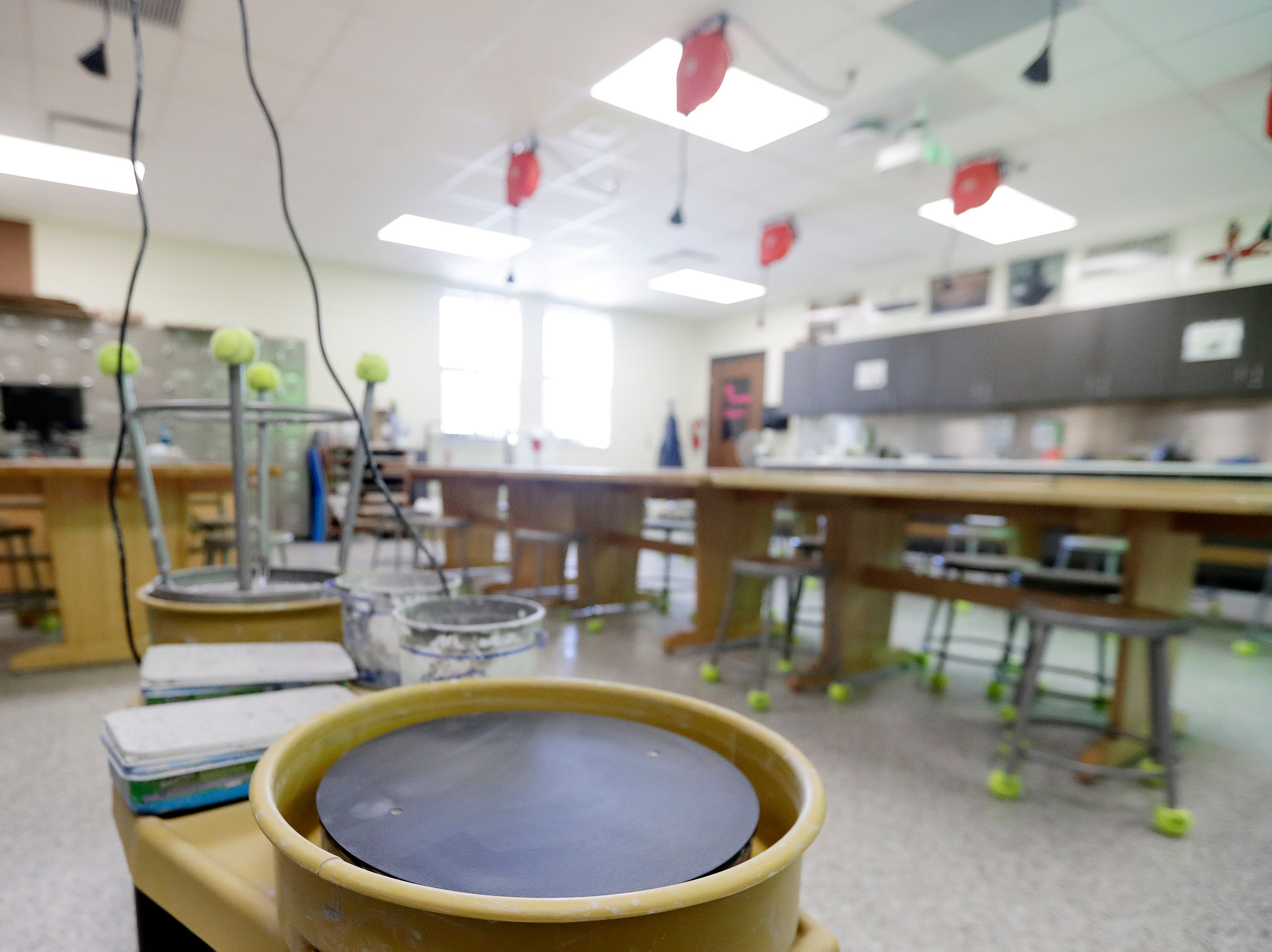 A remodeled art classroom at Washington Middle School is shown on Wednesday, February 13, 2019 in Green Bay, Wis.
