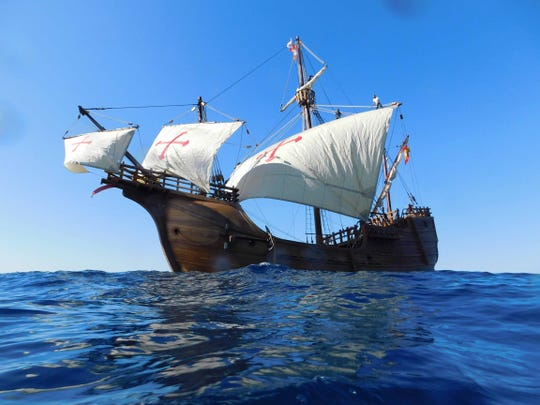 The Santa Maria will sail into port in Sturgeon Bay and dock overnight July 29 before heading to Algoma.