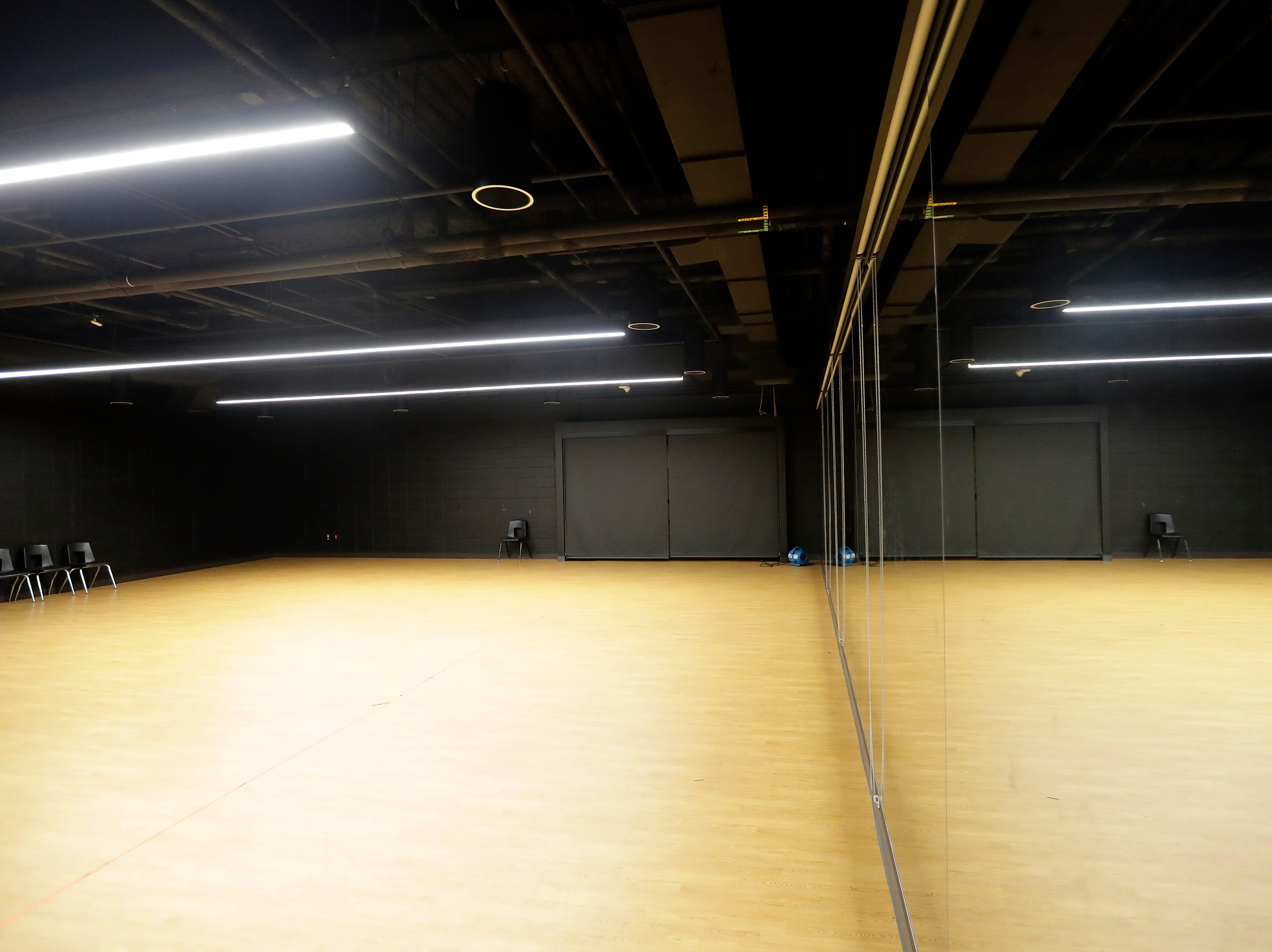 The new dance rehearsal studio in the remodeled art wing at East High School is shown on Wednesday, February 13, 2019 in Green Bay, Wis.