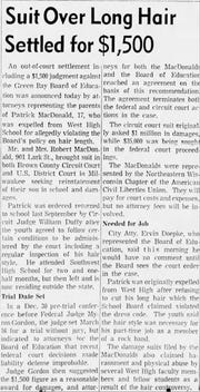 A clipping from the Jan. 26, 1970 edition of the Green Bay Press-Gazette